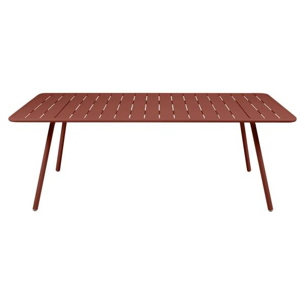 Fermob Luxembourg Table 207 x 100cm in Red Ochre