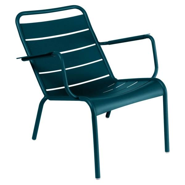 Fermob Luxembourg Low Armchair in Acapulco Blue