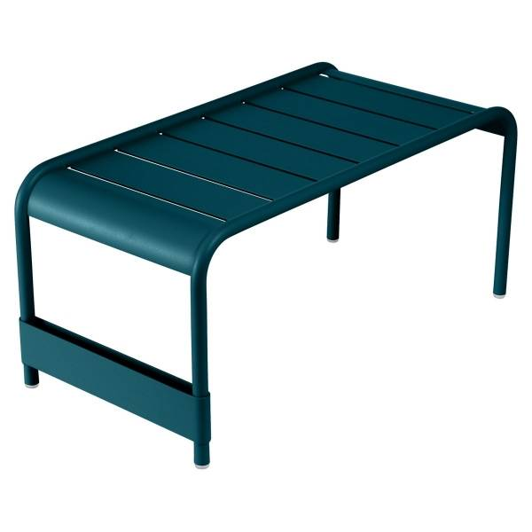 Fermob Luxembourg Large Low Table And Garden Bench in Acapulco Blue