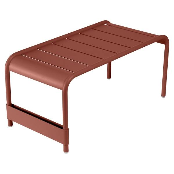 Fermob Luxembourg Large Low Table And Garden Bench in Red Ochre