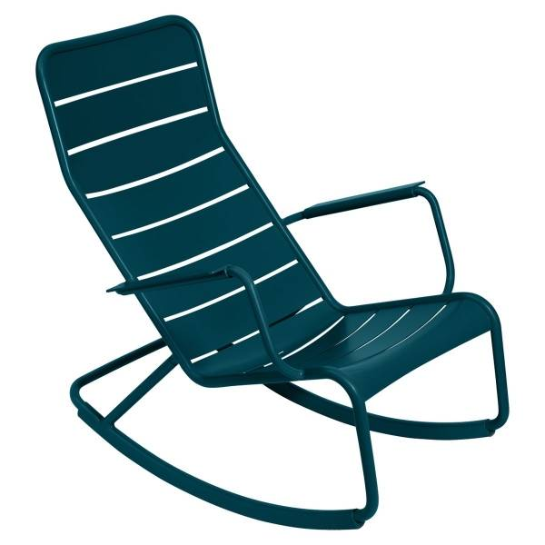 Fermob Luxembourg Rocking Chair in Acapulco Blue