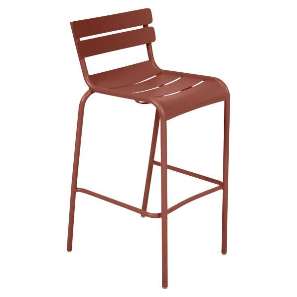 Fermob Luxembourg Bar Chair in Red Ochre