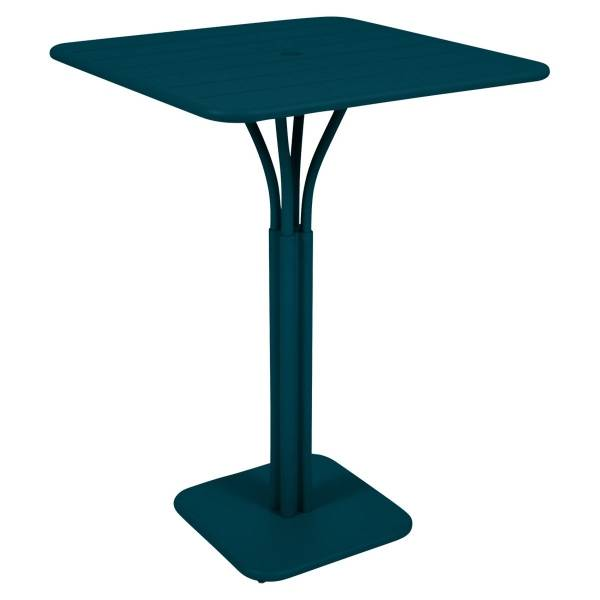 Fermob Luxembourg High Table in Acapulco Blue