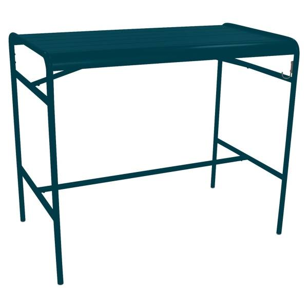 Fermob Luxembourg High Table 126 x 73cm in Acapulco Blue