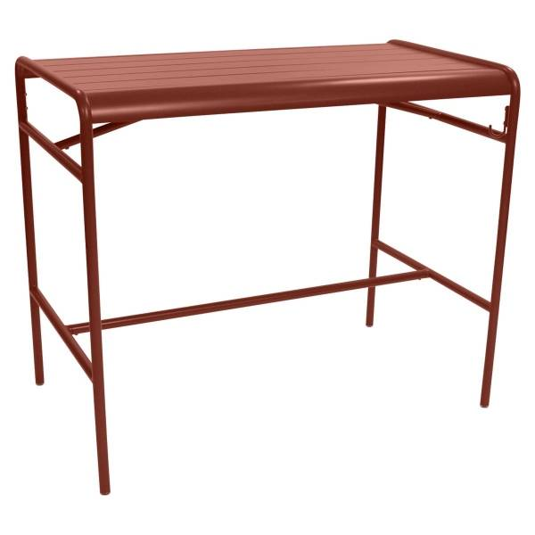 Fermob Luxembourg High Table 126 x 73cm in Red Ochre