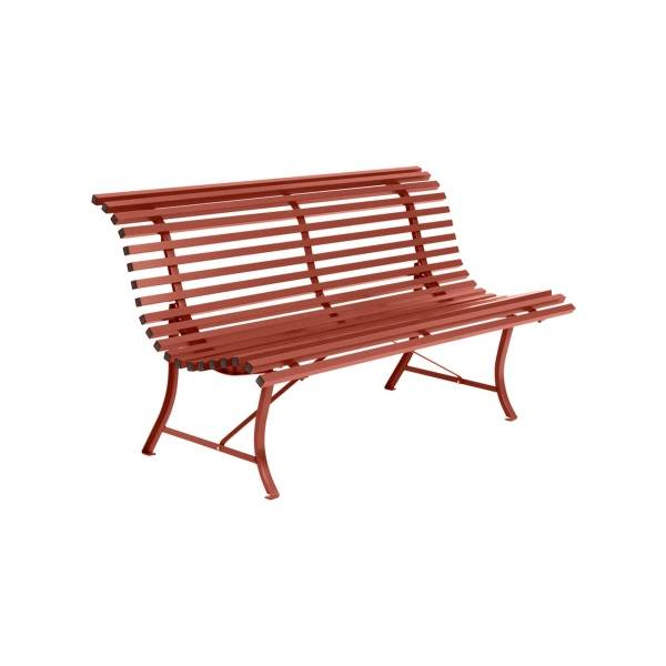 Fermob Louisiane Bench 150cm in Red Ochre