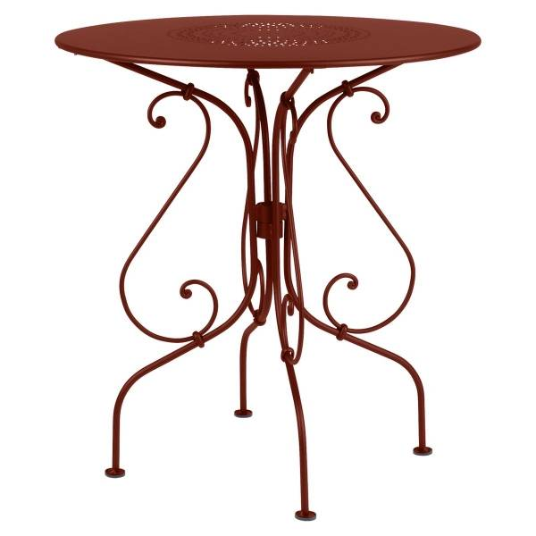 Fermob 1900 Table Round 67cm in Red Ochre