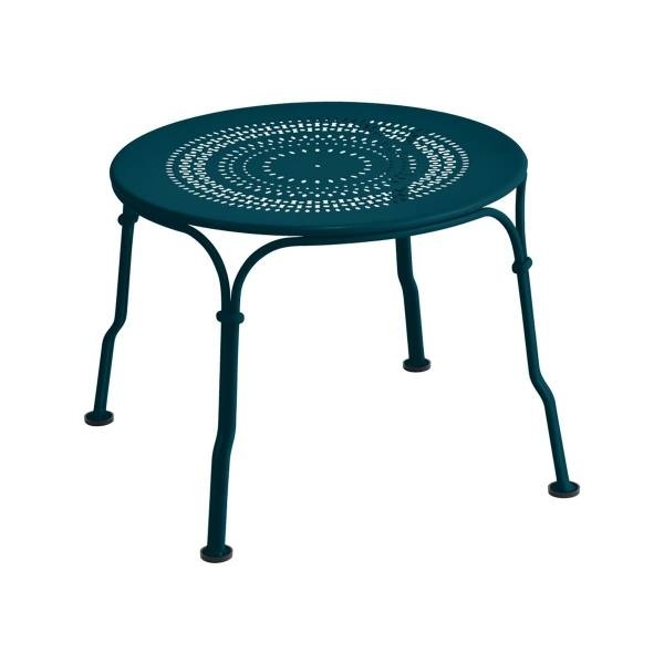 Fermob 1900 Low Table in Acapulco Blue