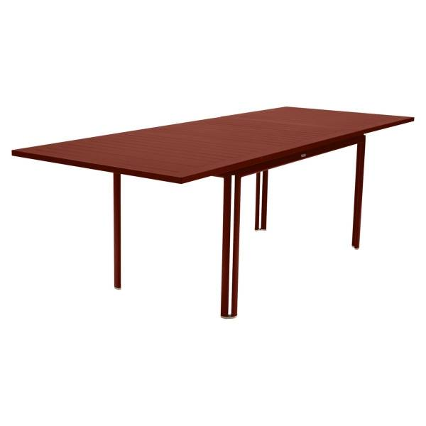Fermob Costa Extending Table 160 to 240cm x 90cm in Red Ochre