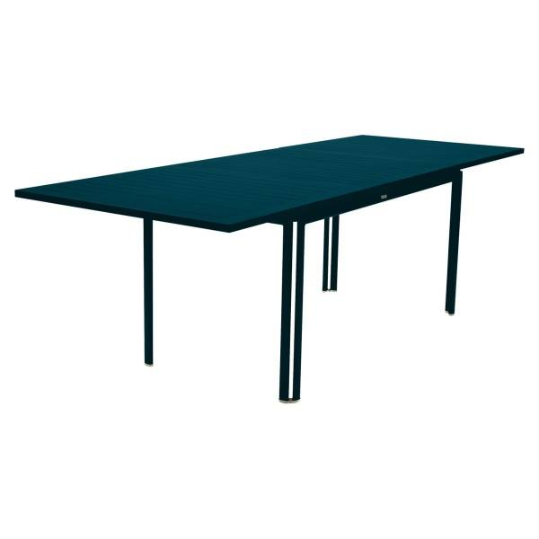 Fermob Costa Extending Table 160 to 240cm x 90cm in Acapulco Blue