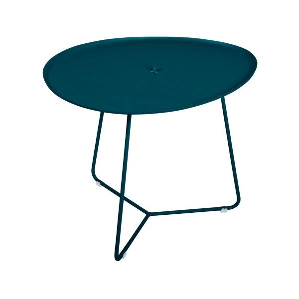 Fermob Cocotte Low Table in Acapulco Blue