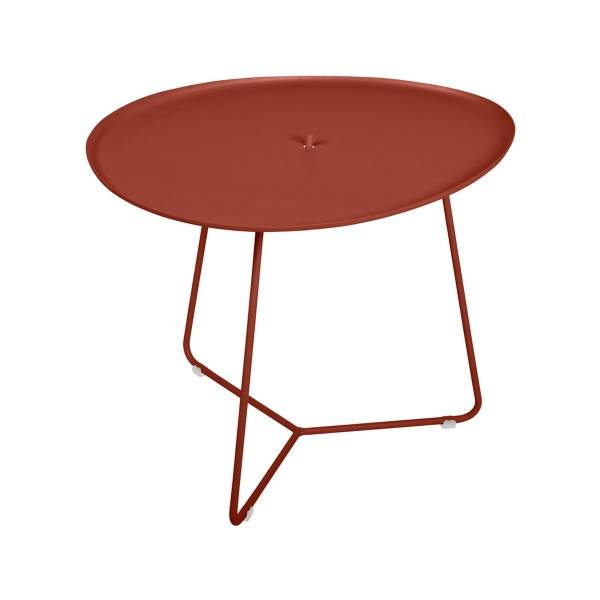 Fermob Cocotte Low Table in Red Ochre