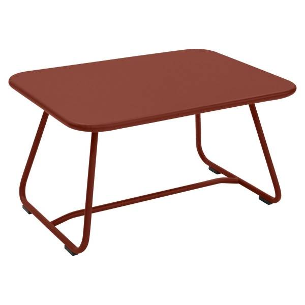 Fermob Sixties Low Table in Red Ochre