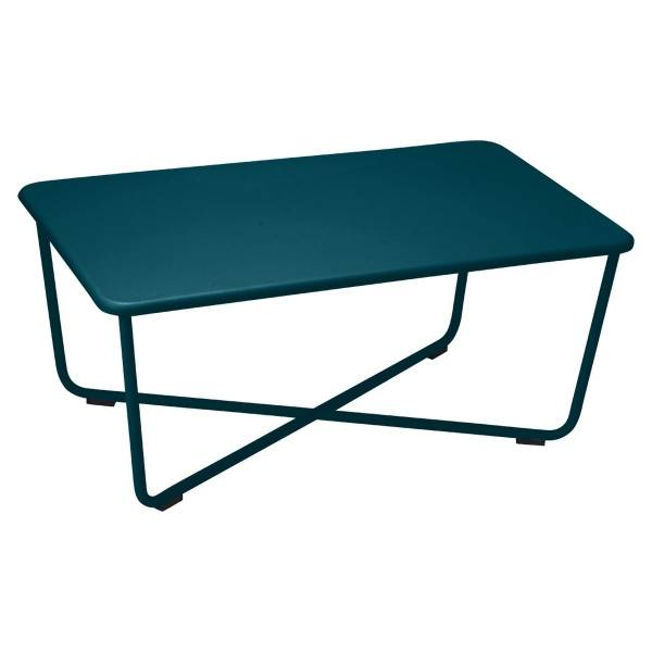 Fermob Croisette Low Table in Acapulco Blue