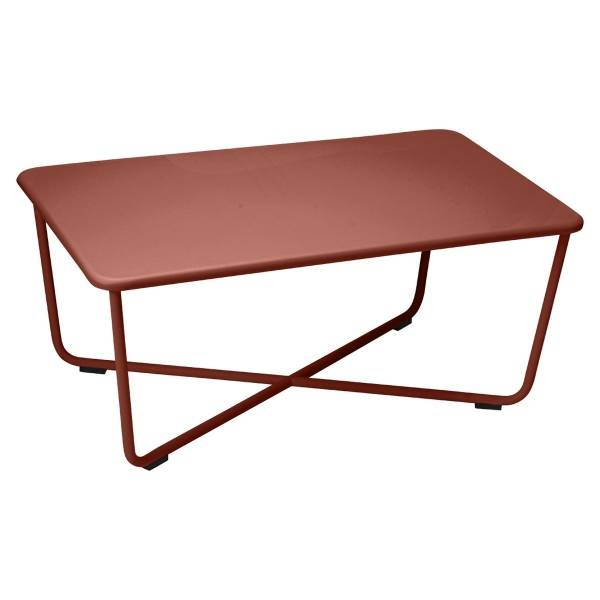 Fermob Croisette Low Table in Red Ochre