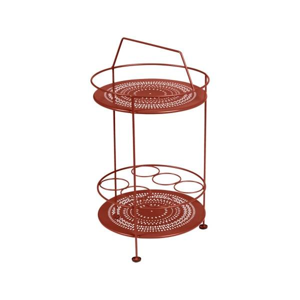 Fermob Montmartre Portable Bar in Red Ochre