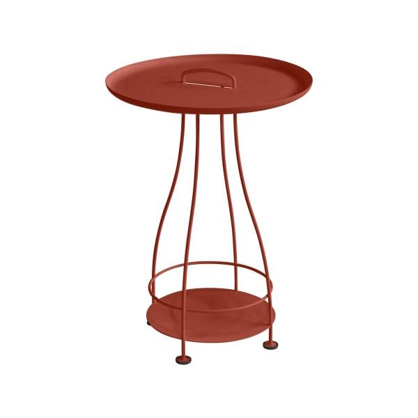 Fermob Happy Hours Pedestal Table in Red Ochre