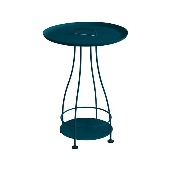 Fermob Happy Hours Pedestal Table in Acapulco Blue