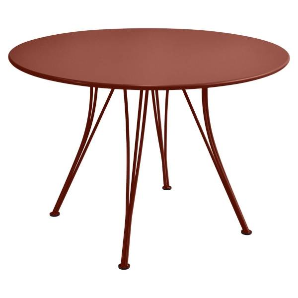 Fermob Rendez-vous Table Round 110cm in Red Ochre