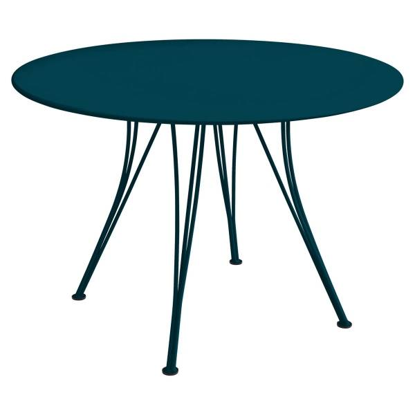 Fermob Rendez-vous Table Round 110cm in Acapulco Blue