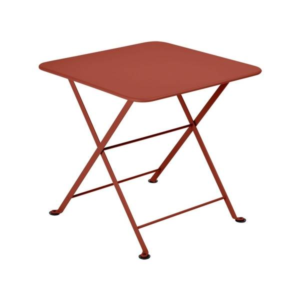 Fermob Tom Pouce Low Table 50 x 50cm in Red Ochre