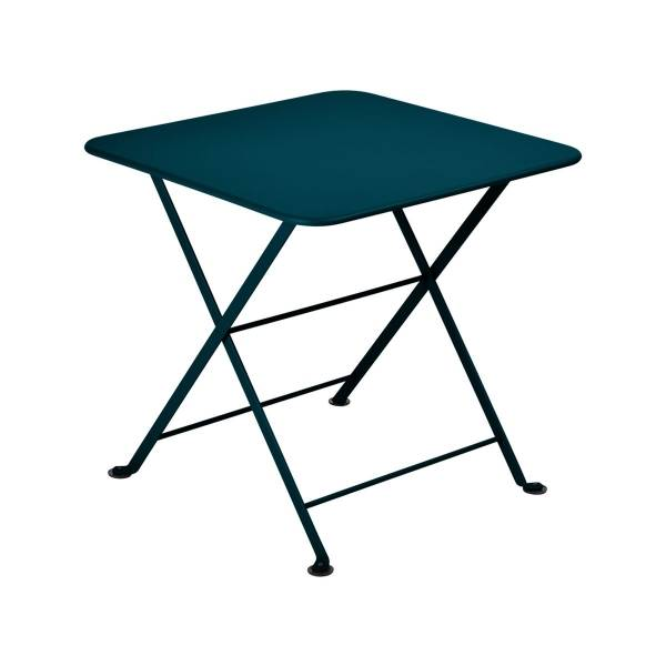 Fermob Tom Pouce Low Table 50 x 50cm in Acapulco Blue
