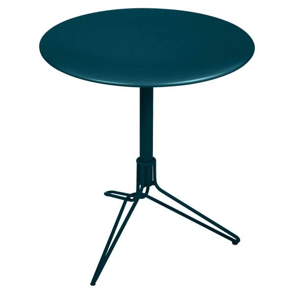 Fermob Flower Pedestal Table Round 67cm in Acapulco Blue