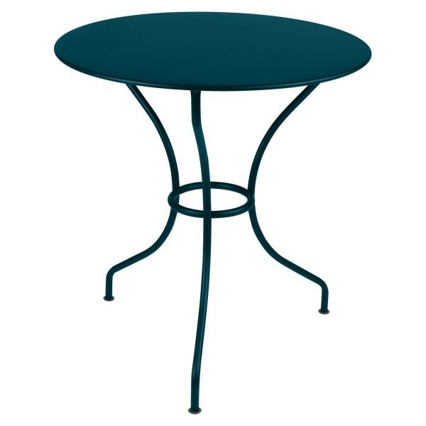 Fermob Opera Round Table 67cm in Acapulco Blue