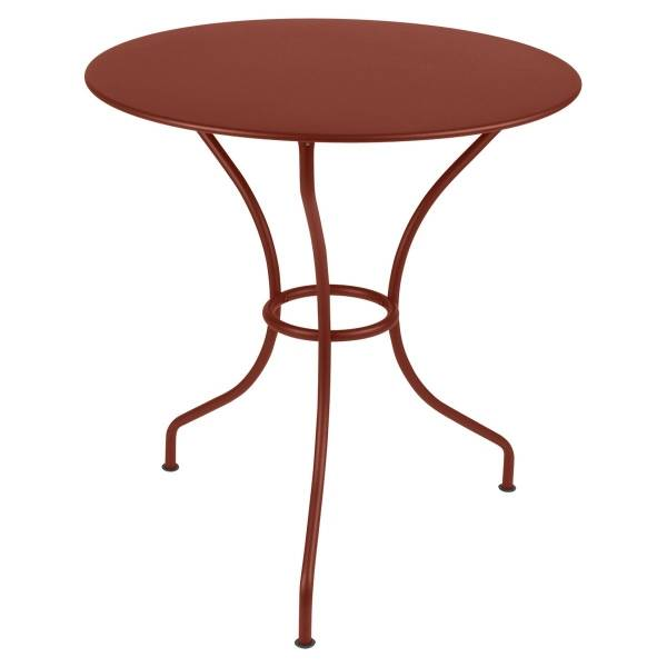Fermob Opera Round Table 67cm in Red Ochre