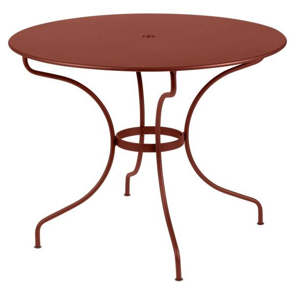 Fermob Opera Round Table 96cm in Red Ochre