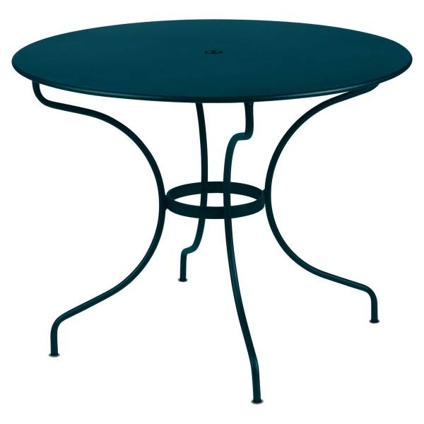 Fermob Opera Round Table 96cm in Acapulco Blue