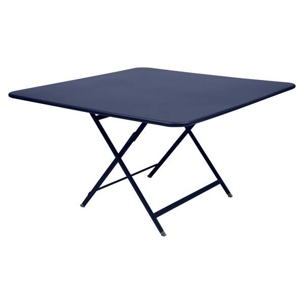 Fermob Caractère Table 128 x 128cm in Deep Blue