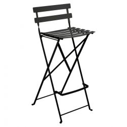 Bistro Folding High Outdoor Stool in colour Liquorice from Bistro Outdoor Furniture