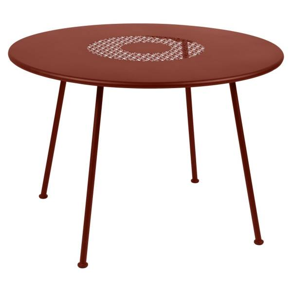 Fermob Lorette Table Round 110cm in Red Ochre