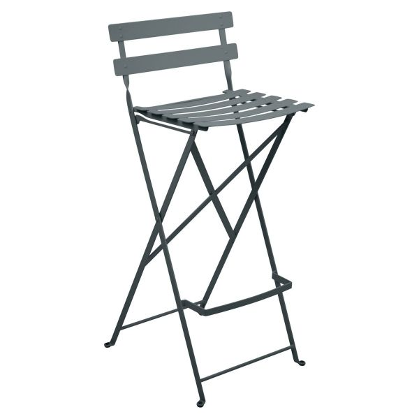 Fermob Bistro High Stool in Storm Grey