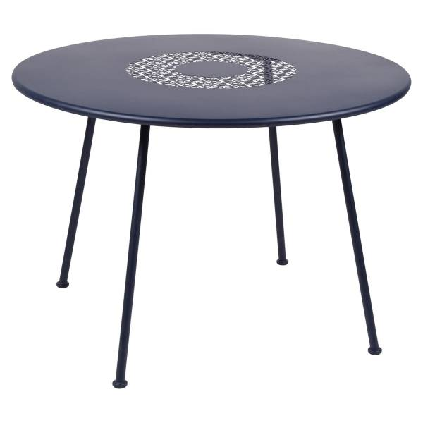 Fermob Lorette Table Round 110cm in Deep Blue