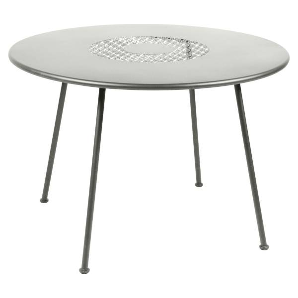 Fermob Lorette Table Round 110cm in Steel Grey
