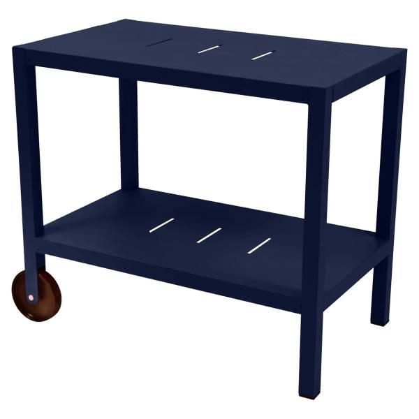 Fermob Quiberon Side Bar in Deep Blue