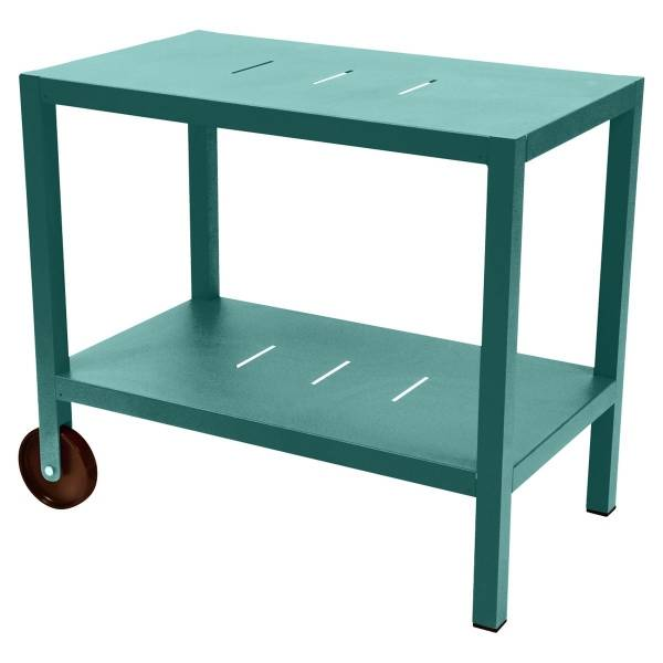 Fermob Quiberon Side Bar in Lagoon Blue
