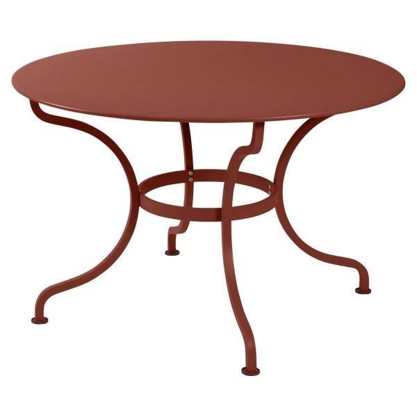 Fermob Romane Table Round  137cm in Red Ochre