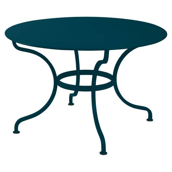 Fermob Romane Table Round  137cm in Acapulco Blue