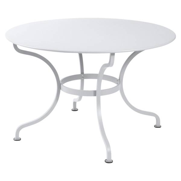 Fermob Romane Table Round  137cm in Cotton White