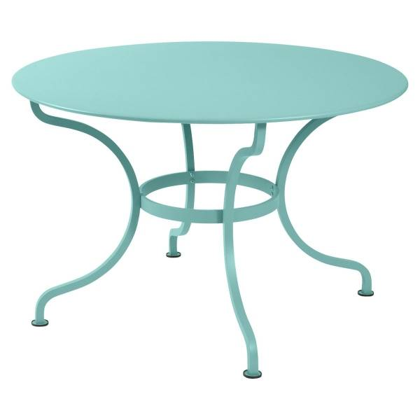 Fermob Romane Table Round  137cm in Lagoon Blue