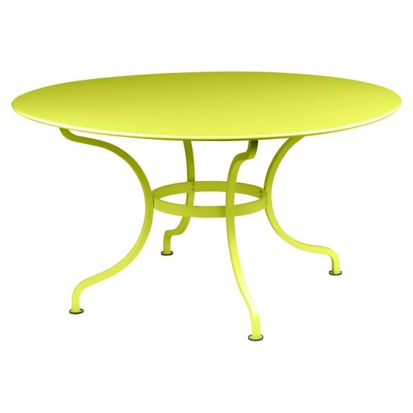 Fermob Romane Table Round  137cm in Verbena