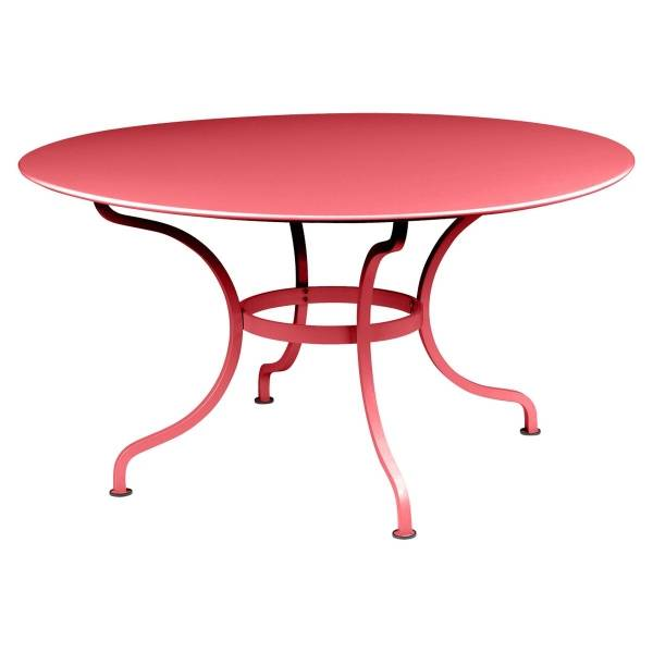 Fermob Romane Table Round  137cm in Poppy