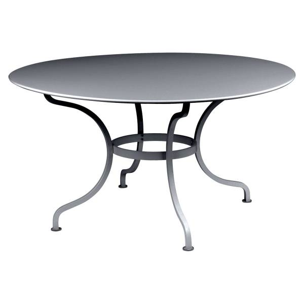 Fermob Romane Table Round  137cm in Steel Grey