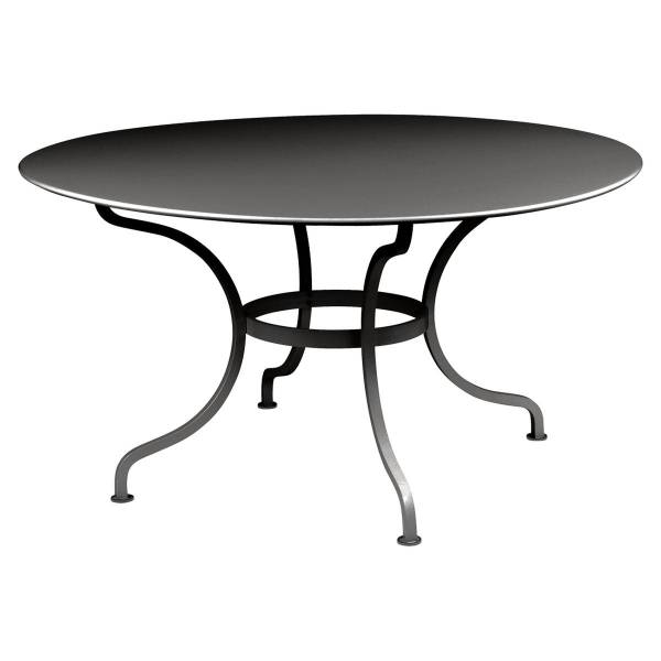 Fermob Romane Table Round  137cm in Liquorice