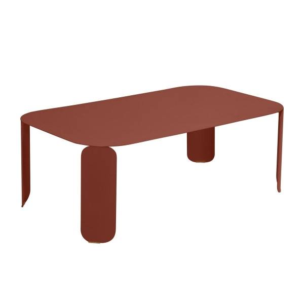 Fermob Bebop Low Table 120 x 70cm - 42 cm High in Red Ochre