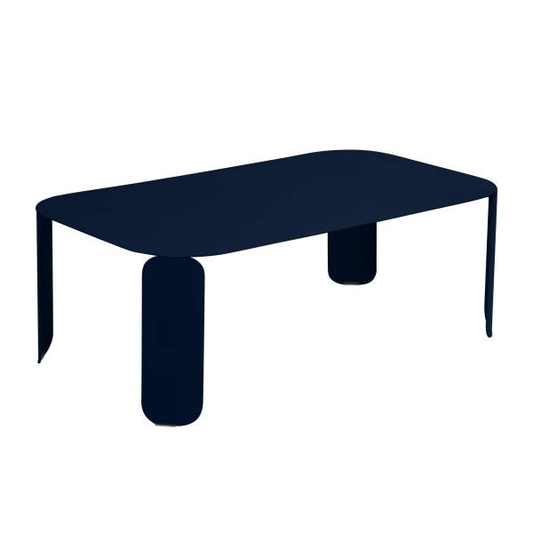 Fermob Bebop Low Table 120 x 70cm - 42 cm High in Deep Blue