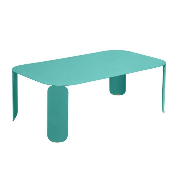 Fermob Bebop Low Table 120 x 70cm - 42 cm High in Lagoon Blue